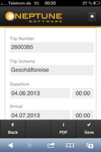 Einfache App zur Reisekostenerfassung mit Neptune