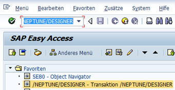 SAP UI5 Tutorial - Transaktion öffnen