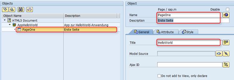 SAP UI5 Tutorial - Elementeigenschaften