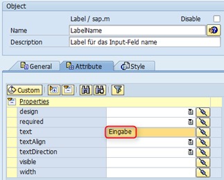 SAP UI5 Tutorial - Label setzen