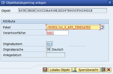 SAP UI5 Tutorial - Paket wählen
