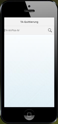 SAP WM App zur Quittierung