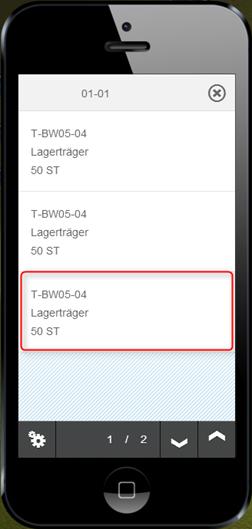 SAP WM App Info - Quantübersicht