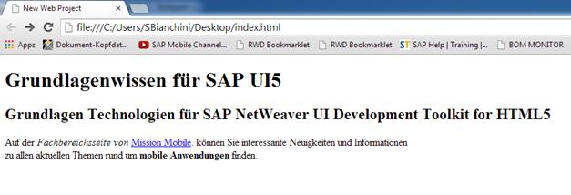 SAP UI5 Html Grundlagen 1