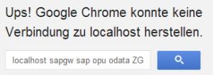 Fehlermeldung in Chrome
