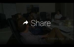 Share Funktion auf einem Foto Google Glass