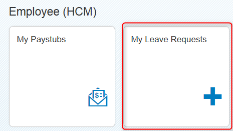 My Leave Requests