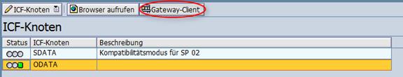 Gateway service testen