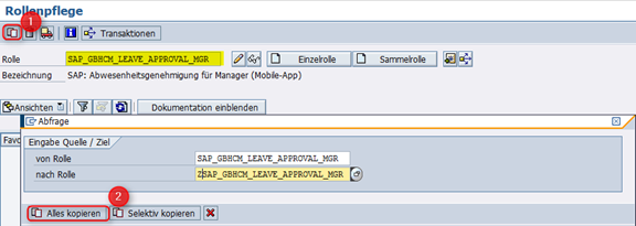 Berechtigungsrolle SAP_GBHCM_LEAVE_APPROVAL_MGR