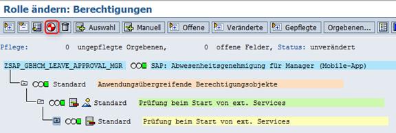 Aktivierung der Rolle SAP_GBHCM_LEAVE_APPROVAL
