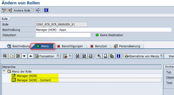 Katalogeinträge SAP_HCM_BCR_MANAGER_X1
