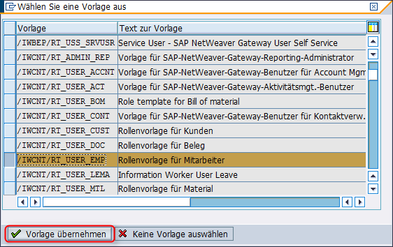 Generieren Rolle SAP_HCM_BCR_MANAGER_X1