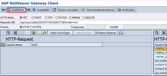 Create Sales Orders - Konfiguration