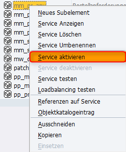 Approve Requisitions Service aktivieren