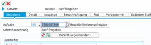 Task ID Bestellfreigabe Workflow Fiori