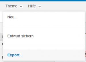 Entwurf speichern und zip-File exportieren