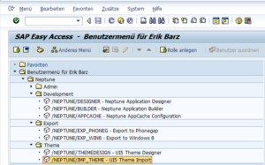 Import im SAP