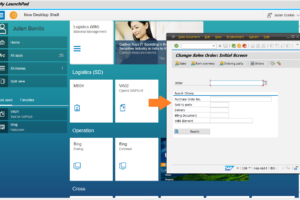 Start der SAP GUI aus dem Launchpad heraus