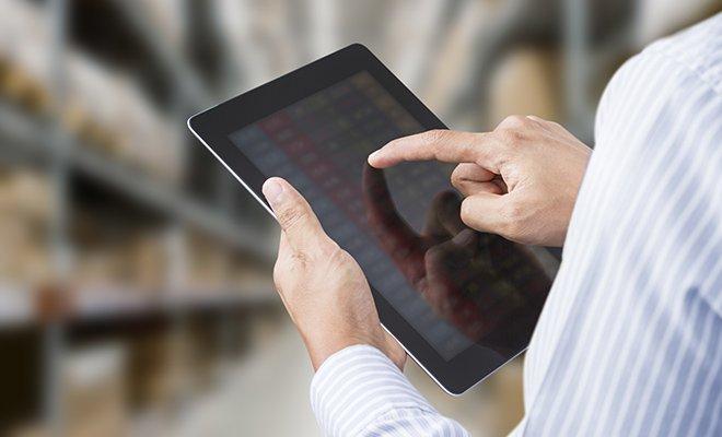 iPad im Warenlager