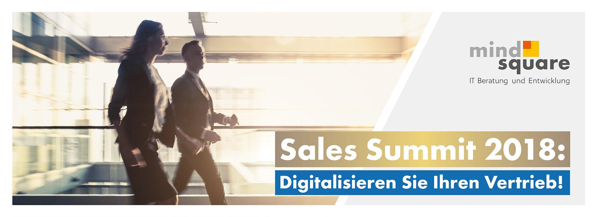Sales Summit 2018 zum Thema Digitalisierung des Vertriebs