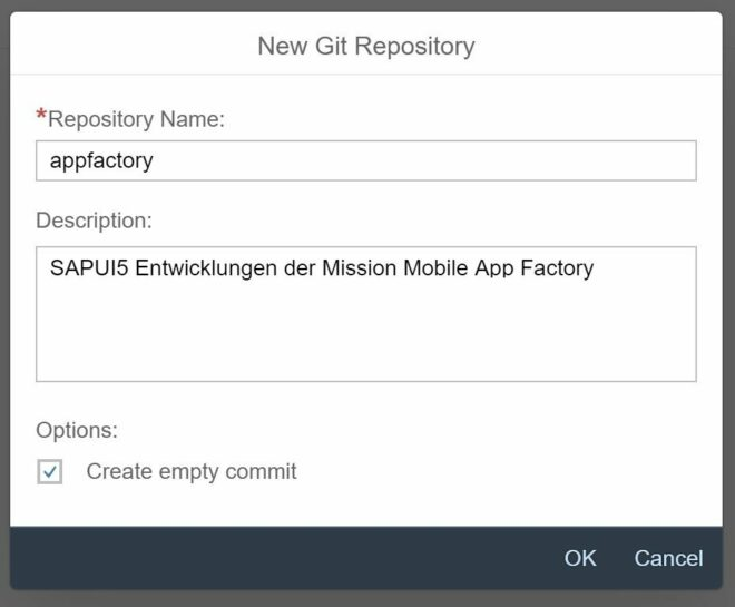 Einrichtung des GIT Repositories