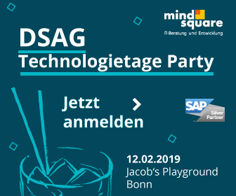 DSAG Technologietageparty 2019