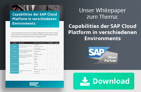 Unser Whitepaper zum Thema: Capabilities der SAP Cloud Platform in verschiedenen Environments