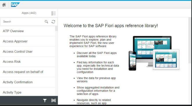 Übersicht zur SAP Fiori Apps Library