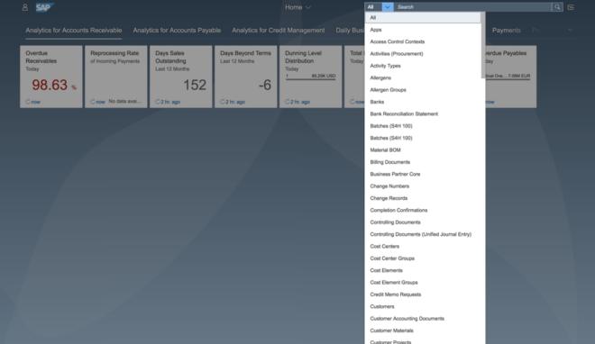 Nutzer können sich eine Ergebnisliste mit verschiedenen Objekten anzeigen lassen.