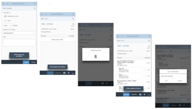 Warenversand per App veranlassen