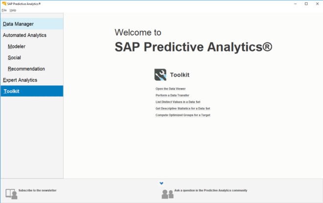 Öffnen Sie Predictive Analytics