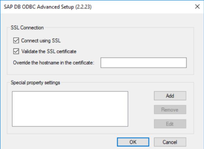 Connect using SSL und Validate the SSL certificate aktivieren