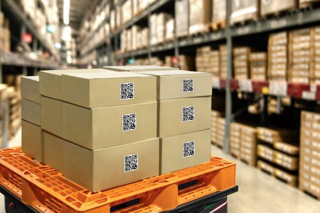 Material, Rohstoffe und Waren transportieren mit Transfer Stock