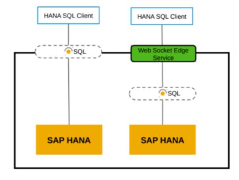 Sie können den HANA Service mit On-Premises Tools über WebSocket verbinden