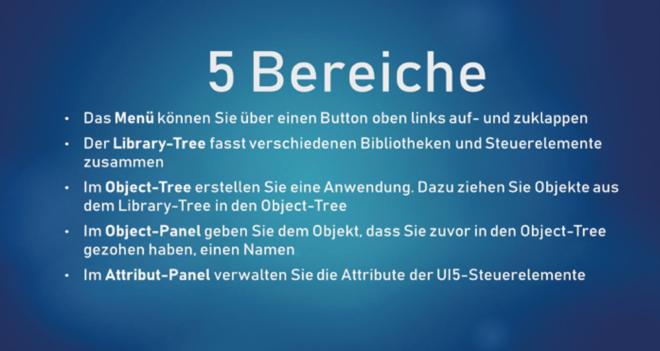 UI5-Komponenten können Sie über das Object-Panel in eine App einbauen.
