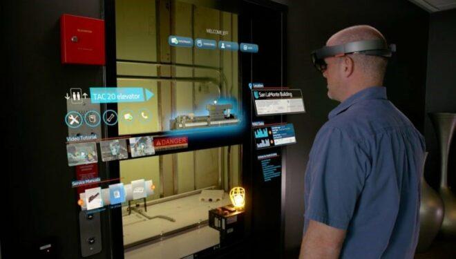 Verwendung der Microsoft HoloLens bei ThyssenKrupp