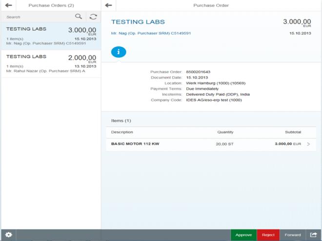 Effizienzsteigerungen im Einkauf mit SAP Fiori Approve Purchase Orders