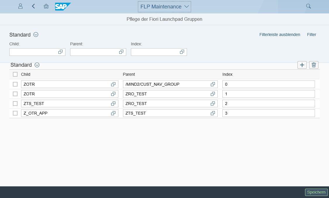 Fiori Launchpad Hierarchie Tool Verwaltung