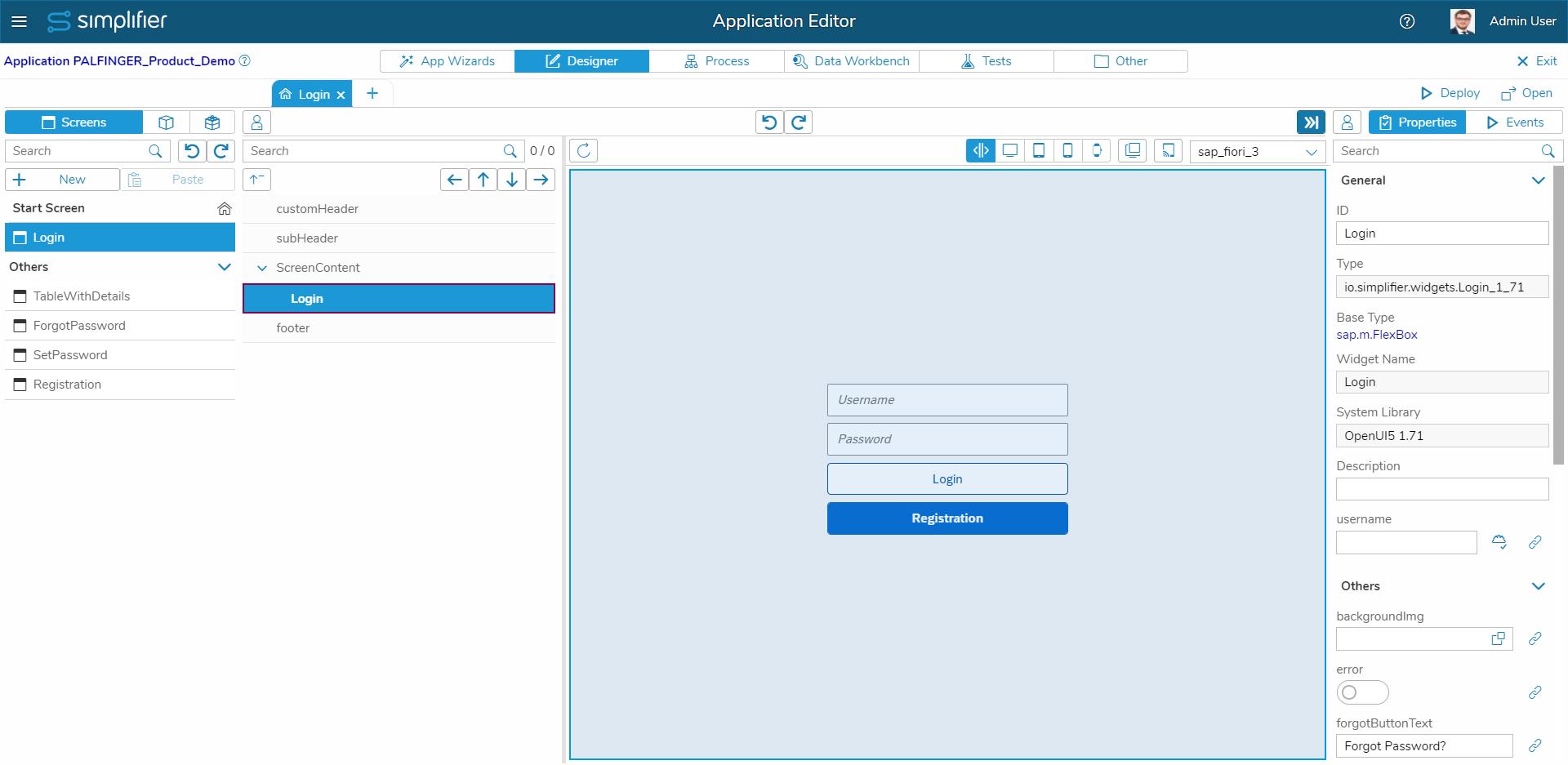 Der Simplifier App Designer in der Praxis – Drag & Drop basierte Erstellung des User Interfaces
