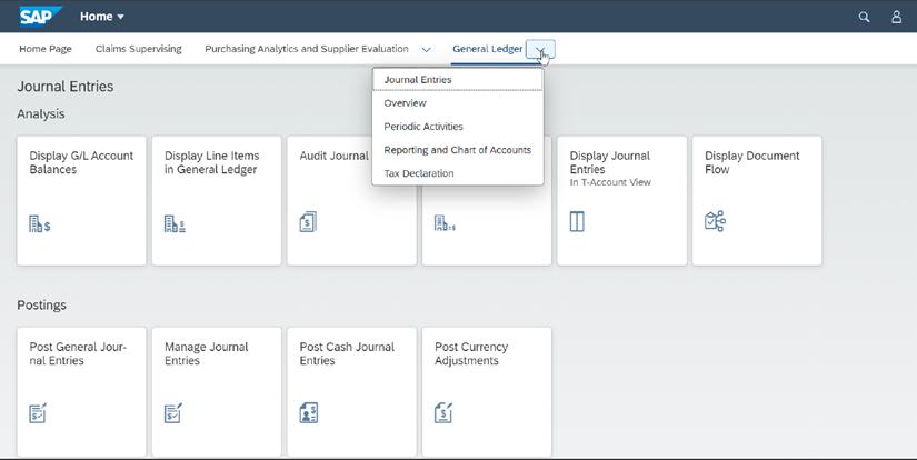 Abb. 1: Beispiel eines SAP Launchpads mit integrierten Apps, Seiten und Spaces. Quelle: SAP.